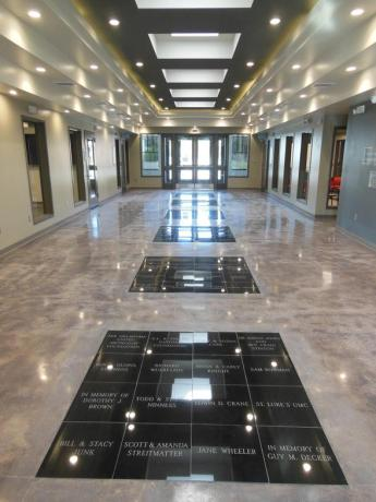 GRANITE INLAID FLOOR